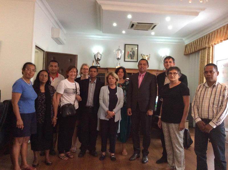 mission du GFAOP à Madagascar, rencontre avec le ministre de la santé