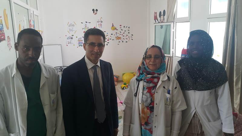 visite de l'ancien  Pdt Mhamed Harif
