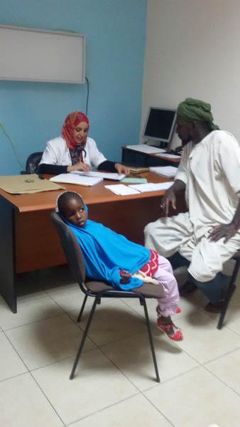 Enfant en consultation